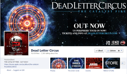 Bands can learn a lot from the Facebook Page of Dead Letter Circus.